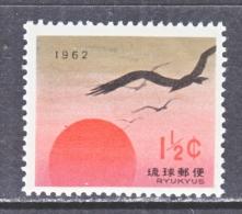 RYUKU ISLANDS    92   *  BIRDS, EAGLES, RISING SUN - Ryukyu Islands