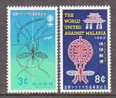 RYUKU ISLANDS   95-6  **   WHO   MALARIA - Ryukyu Islands