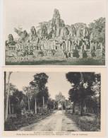INDOCHINE  CAMBODGE  2   CPA  RUINES D´ANGKOR  Réf  2405 - Cambodge