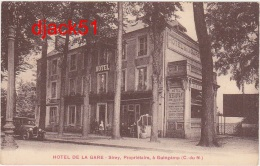 22 - HOTEL DE LA GARE - Sirey, Propriétaire, à Guingamp (C.-du-N.) (Voiture) / Chicorée A La Ménagère / 2 Scans - Guingamp