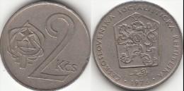 CECOSLOVACCHIA 2 Koruny 1976 KM#75 - Used - Cecoslovacchia