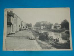 79) Coulon - N° 15 - Le Quai Et Le Pont  ( Lavandières ) - Année 1917 - EDIT - Ménard - Coulonges-sur-l'Autize