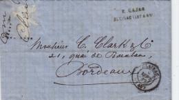 Courrrier Envoyé De Clairac à Bordeaux  En Septembre 1867. - 1849-1876: Periodo Classico