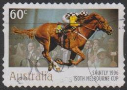 "AUSTRALIA - DIECUT - USED 2010 60c 150th Melbourne Cup - Winners - ""Saintly"" 1996 - Horse - Usati"