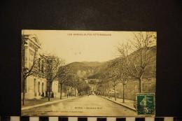 Cp, 04, Digne-les-Bains, Boulevard Neuf , 1909 - Digne