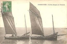 Noirmoutier - En Mer Barques De Pêcheurs - Très Belle Carte - Pas Courante - Noirmoutier