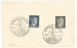 R878 - STRASSBURG Elsass - 1941 - STRASBOURG Alsace - - Briefe U. Dokumente