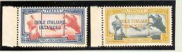 Sonstige - Ägäische Inseln 1932 Flugpost Mi#103/4 ** Postfrisch - - Autres - Europe