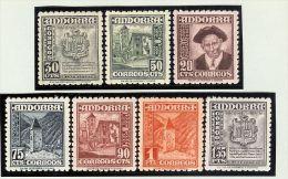 Andorra Span. 1948 Satz Mi#44-50 ** Postfrisch - Andorre Espagnol
