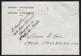 GRANDE CHANCELLERIE DE LA LEGION D HONNEUR / 1978 LETTRE A ENTETE  EN FRANCHISE  (ref 6468) - Civil Frank Covers