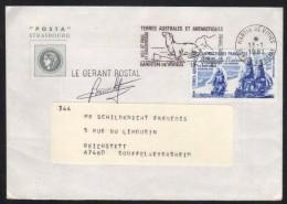 TAAF - SAINT PAUL & AMSTERDAM / 1981 LETTRE POUR LA FRANCE  (ref 6465) - Storia Postale