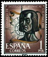 ESPAÑA SEGUNDO CENTENARIO NUEVO Nº 1515 ** 1P  CASTAÑO Y VERDE - 1961-70 Neufs