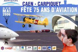 N°42786 GF Cpm Caen Carpiquet 75 Ans D'aviation - Aerodromes