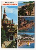 Espagne--LLORET DE MAR--Recuerdo De Lloret De Mar--Multivues Cpm N°845 éd  Fabregat - Gerona