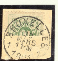 Belgien Porto Mi#1 Halbierung 1894-03-20 - Postage Due