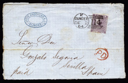 A3118) UK Grossbritannien 2 Fronts Of Cover With 6 Pence To Spain - Briefe U. Dokumente