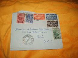ENVELOPPE UNIQUEMENT DE 1953. / BRAZZAVILLE R.P. A.E.F. POUR PARIS FRANCE / CACHETS +TIMBRES - Autres