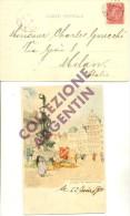 CARTOLINA POSTALE D'AUTORE Del Belgio (Anversa), Affrancata E Viaggiata, Del 1900 - Belgio