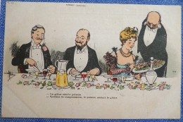 LITHO Illustrateur Guillaume Homme Femme Restaurant Gibier Poisson RARE Publicité Virginameline Girardin Lyon - Guillaume
