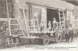 Forges Et Charronnages - Remorques En Tous Genres L. Gauthier - Saint-Jean-en-Royans - Carte Non Circulée - Artigianato