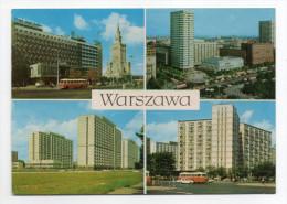 Pologne--VARSOVIE--WARSZAWA--Multivues (Hotel Metropole.....)--beau Timbre Au Dos - Pologne