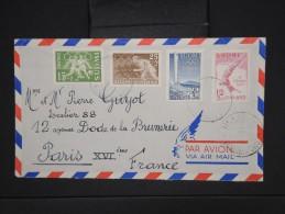 "FINLANDE-Enveloppe  De Helsinski Pour La France En 1952  Aff Série Jeux Olympiques  Obl ""Helsinski  Helsingfors""  P6093 - Finland"