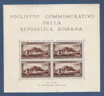 ITALIA - BF Nuovo Con Gomma Stl Con 4 Vignette Dedicate Alla REPUBBLICA ROMANA - STAMPA PRIVATA - In Ottime Condizioni. - Erinnofilia