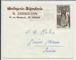 1967 - SEUL Sur ENVELOPPE De VIENNE Pour GENEVE (SUISSE) - Marcophilie (Lettres)
