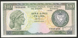 Ten Pounds 1.10.1988 GEM UNC! (perfect Note!). - Zypern