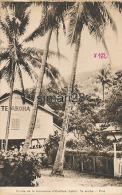 TAHITI - ENTREE DE LA LEPROSERIE D'OROFARA - TE AROHA - PITIE (CP 1952 FORMAT CPM) - Polynésie Française