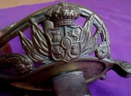 SABRE ESPAGNOL 1872 FABRICA  DE TOLEDO - Armes Blanches