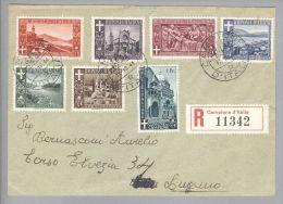 Campione 1944-10-17 R-Satzbrief Nach Lugano - Autres - Europe