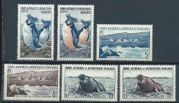 TAAF Neuf  N° 2/7 De 1956 Animaux, Phoques, Pingouins, Otaries... - Unused Stamps