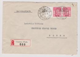 CAMPIONE 1948-03-09 R-Brief Mit Paar Zu.# 3 A Nach Bern - Autres - Europe