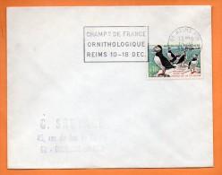 MAURY N° 1274   MACAREUX PROTECTION DE LA NATURE ( Flamme Concordante )  Lettre Entière N° M 764 - 1961-....