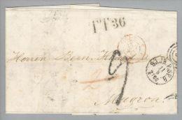 Dänemark 1863-08-11 Kopenhagen SJ.JB.P.SP.B Nach Mugron France TT 36 - Danimarca
