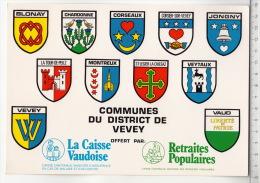 Armorial Des Communes Du District De Vevey - VD Vaud