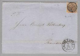 Dänemark 1856-12-07 Gravensteen Brief Nach Randers Mit Mi#4 3-Ring-O #101 - 1851-63 (Frederik VII)