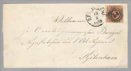 Dänemark 1859-08-19 Rendersburg Brief Mit Mi#4 Nach Kopenhagen 3-Ring-O #54 - 1851-63 (Frederik VII)