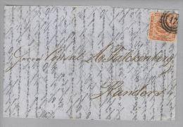Dänemark 1855-09-01 Frederica (Brief Aus Rotterdam) Mit Mi#4 Nach Randers - 1851-63 (Frederik VII)
