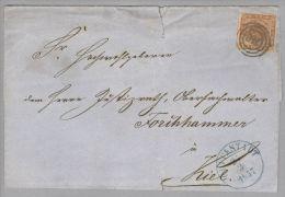 Dänemark 1857-03-25 Glückstadt Brief Mit Mi#4 3-Ringstempel #116 Nach Kiel - 1851-63 (Frederik VII)