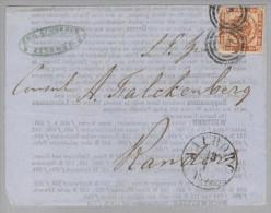 Dänemark 1854-12-13 Aalborg Drucksache Mit Mi#4 Nach Randers - 1851-63 (Frederik VII)
