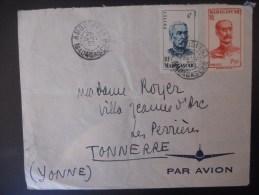 Madagascar Lettre De Ambositra 28-1-50 Pour Tonnerre - Madagascar (1889-1960)