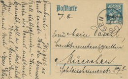 Stationery Used 1921. Postmark Füssen.  S-2064 - Entiers Postaux