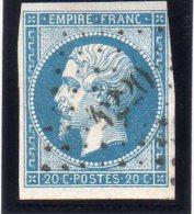 """FRANCE : PC 4220 . """" MENTON """" . (87) . N° 14 . TB . - Marcophilie (Timbres Détachés)"""