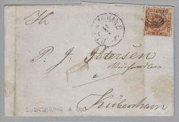 Dänemark 1864-05-11 Rudkjobing Brief Mit Mi#9 Ring-O #59 Nach Kopenhagen - 1851-63 (Frederik VII)
