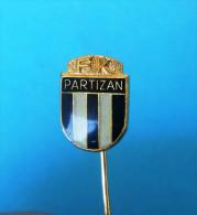 FC PARTIZAN Football Soccer Club Belgrade Serbia Ex Yugoslavia Old Pin Badge Fussball Futbol Futebol Calcio Anstecknadel - Fútbol