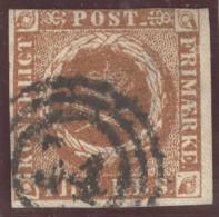 Dänemark 1854 Mi#1IIb Mit 3-Ringstempel #34 Befund Gronlund - 1851-63 (Frederik VII)