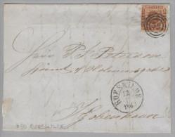 Dänemark 1863-11-22 Roeskilde Brief Mit Mi#9 3-Ring-O #58 Nach Kopenhagen - 1851-63 (Frederik VII)