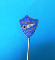 FC ZELJEZNICAR - Football Soccer Club Bosnia Ex Yugoslavia Old Pin Badge Fussball Futbol Futebol Calcio Anstecknadel - Fútbol